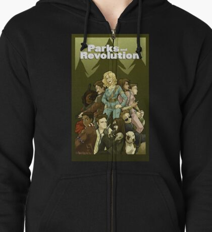 Parks and Revolution Zipped Hoodie