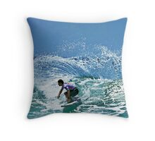 Slashing it up Throw Pillow