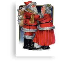 Vintage Mr and Mrs Claus Canvas Print