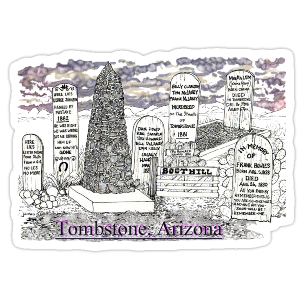 Boot Hill in Tombstone, Arizona by James Lewis Hamilton