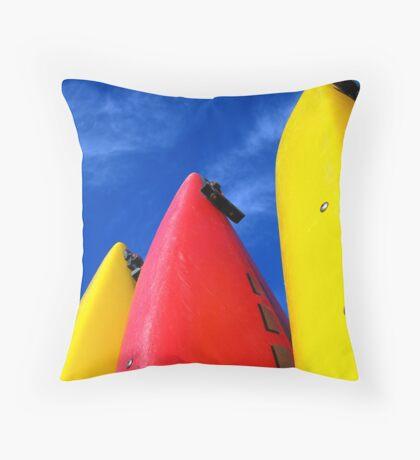Primary Colours Throw Pillow