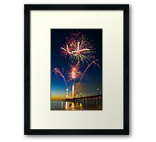 Fireworks at Brighton Framed Print