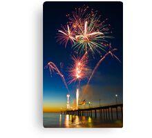 Fireworks at Brighton Canvas Print