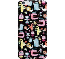 texture of funny monsters iPhone Case/Skin