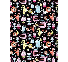 texture of funny monsters Photographic Print