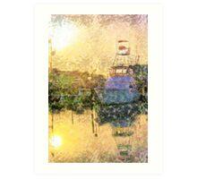 Marina Sunset Art Print