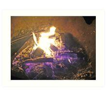violet fire Art Print