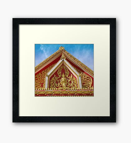 Golden Shrine Prayer Framed Print