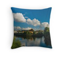 2012 London Olympic Pre- Demolition Blue 1 Throw Pillow