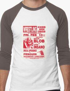 The Revolting Blob Wrestling Poster Men's Baseball ¾ T-Shirt