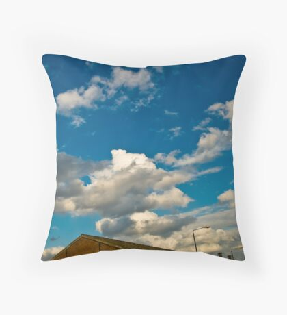 2012 London Olympic Pre-Demolition Blue 2 Throw Pillow