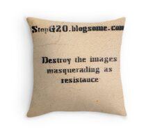 political spin Throw Pillow
