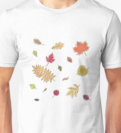 Autumn leaves watercolor Unisex T-Shirt