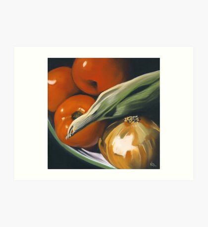 Summer Vegetables Art Print