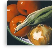 Summer Vegetables Canvas Print