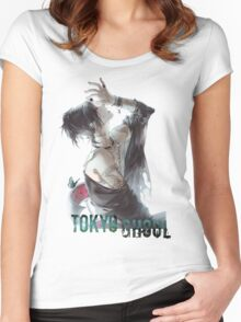 Anime: TOKYO GHOUL - Uta Women's Fitted Scoop T-Shirt