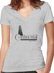 Continental Hotel Women's Fitted V-Neck T-Shirt