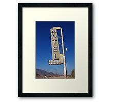 Bagdad Motel Framed Print