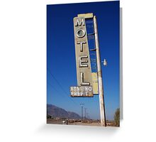 Bagdad Motel Greeting Card