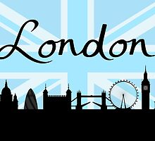 London Script on Union Jack Sky & Sites by NataliePaskell