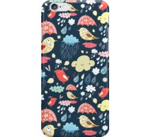 birds under umbrellas and rain iPhone Case/Skin