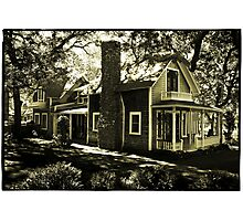 Wooden House & Flag, Martha's Vineyard, New England Photographic Print