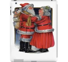 To Grandma and Granded Mr and Mrs Claus Christmas Card iPad Case/Skin