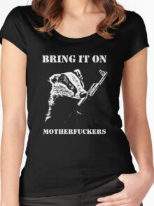 Badger Fights Back Women's Fitted Scoop T-Shirt