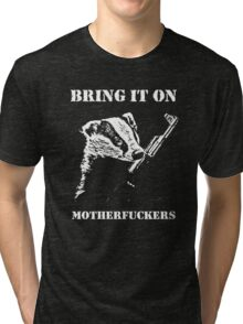 Badger Fights Back Tri-blend T-Shirt