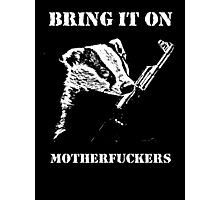 Badger Fights Back Photographic Print