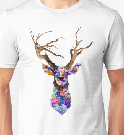 Floral Stag Unisex T-Shirt