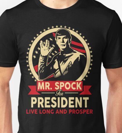 Spock for President Unisex T-Shirt