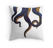 tentacle monster Throw Pillow