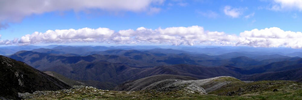 View from Mt Bogong Summit by Joel Bramley