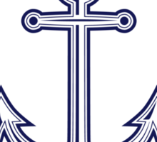 Anchor inside of ropes Sticker