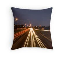 The Eastern Freeway Straight Throw Pillow
