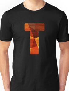 Letter T - Initial Wood Unisex T-Shirt
