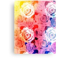 pattern of roses Canvas Print