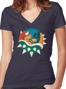 BrOWSER Women's Fitted V-Neck T-Shirt