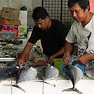 Fish Markets at Sandakan by sandysartstudio