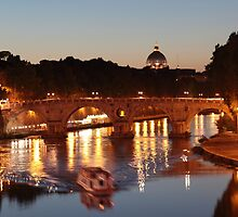 Tiber river in Rome by iristudiophoto