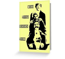 Communist Marx Brothers - Light background Greeting Card