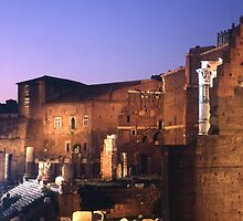 Trajan's Market at night by iristudiophoto