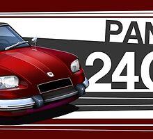 Panhard 24CT Illustrated Mug by RJWautographics