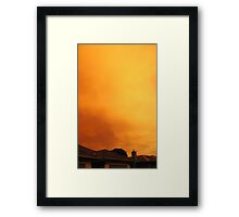nuclear saturday Framed Print