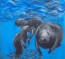 Manatee Family by silentsunlight