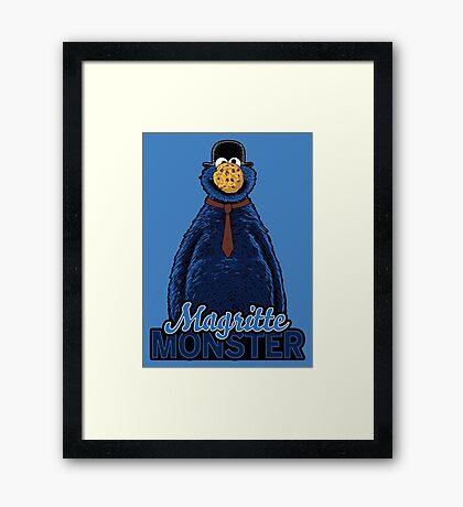 Magritte Monster Framed Print