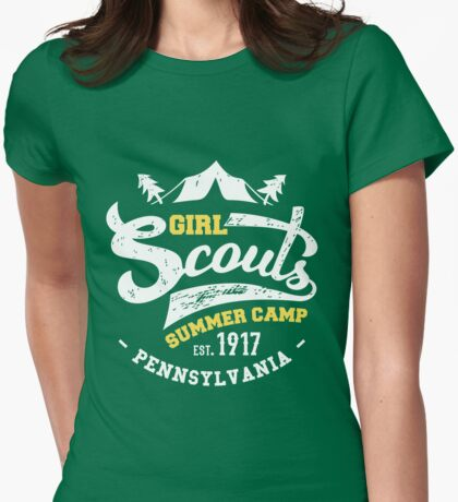 Girl Scouts Summer Camp Womens Fitted T-Shirt
