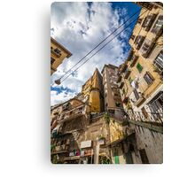 Naples - working class district Canvas Print