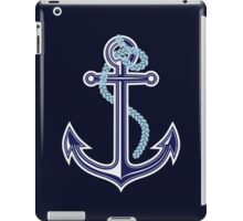 White and blue anchor with rope iPad Case/Skin